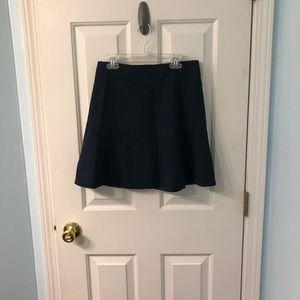 Navy Size 0 JCrew Factory Flare Mini Skirt